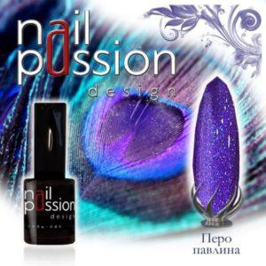 гель-лак-nailpassion-перо павлина фото