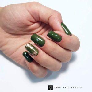 гель-лак-nailpassion-поздняя зелень фото