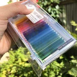 цветные ресницы фото